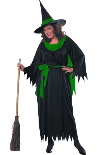 Sexy witch costume with hat- large