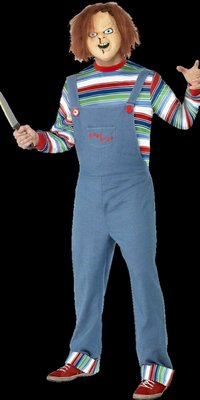Chucky doll movie costume with mask - Halloween horror