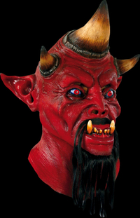 Tri horn the devil Latex horror mask - Halloween