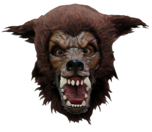 Full moon wolf horror mask - Halloween