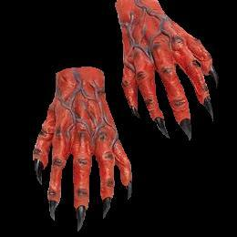 Latex horror hands  - DEMON RED - gloves