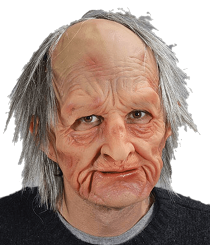 Old man mask - With moving mouth - Realistic Barry