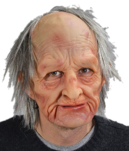 Old man mask with hair - Barry old man