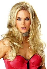 Seductive rock chick wig long blonde