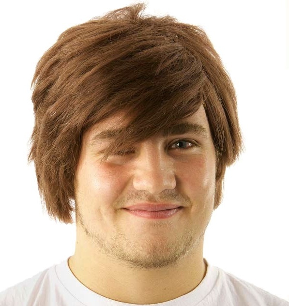 Male short  wig brown