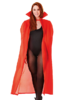 Cape Satin Look Dracula Vampir / Phantom - ROT 140 cm
