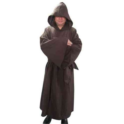Hooded cloak  Robe brown with hood