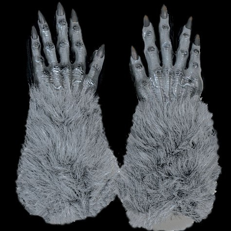 Grey Werewolf Wolf/ Monster Gloves
