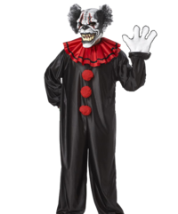 Demon clown costume - Moving mouth - Halloween