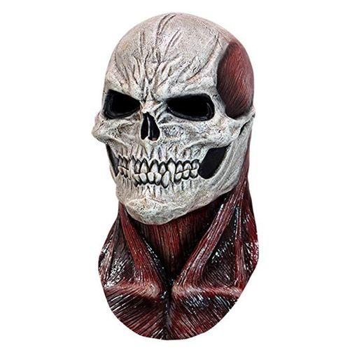 Red flesh mask is a quality latex full head mask