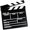 movie clapperboard - for movie making just like in the movies