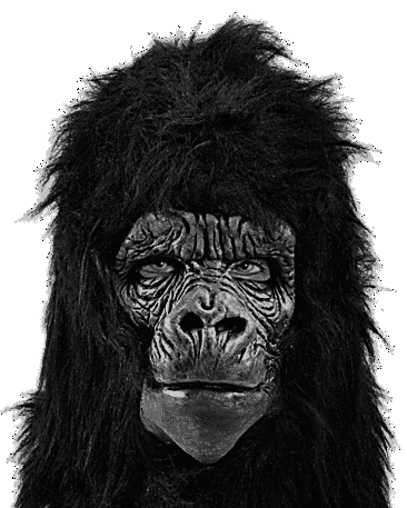 Deluxe latex Gorilla ape mask