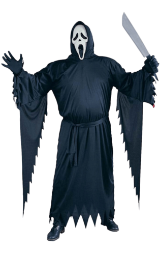 Scary movie - Scream robe costume and mask - Halloween