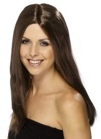 Wig star style - deluxe Brown Star Style Party Wig