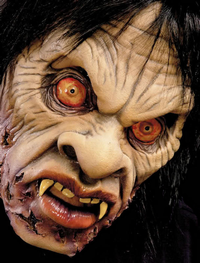 'Voo doo' living dead zombie horror mask - Halloween