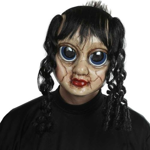 Sad sally doll horror face mask with hair