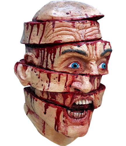 Sliced up Halloween Horror mask - Halloween