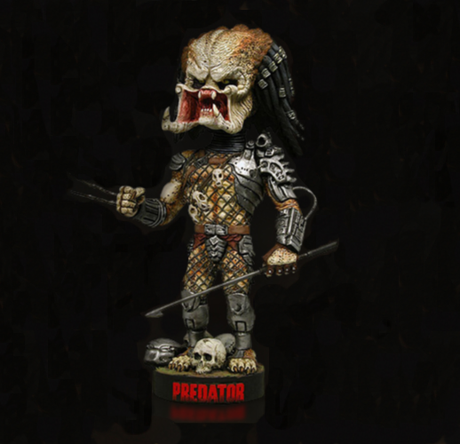 Predator Headknocker - bobble head resin head knocker
