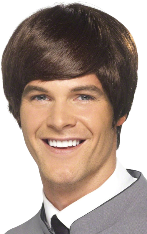 A Male brown style wig