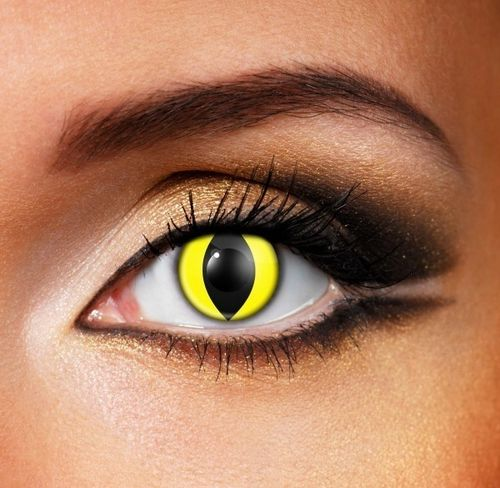 Yellow wolf Contact Lenses - Pair of lenses for wolves or cats