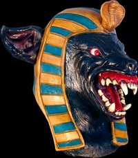 Anubis latex giant jackal Egyptian mask