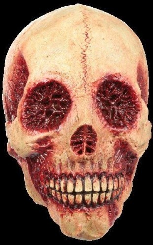 Skinned alive skull horror mask
