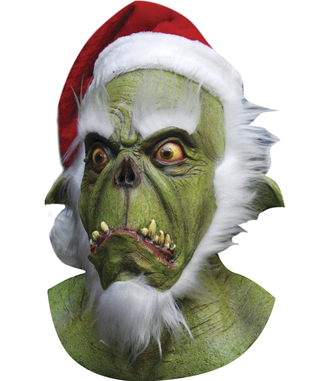 Santa grinch horror mask and hat - mask
