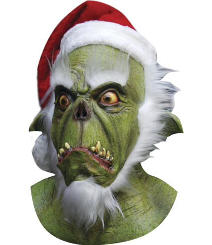 Santa GRINCH Christmas horror mask and hat