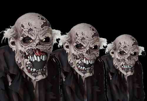 Deluxe Zombie Action Kiefer Mask - Moving Mund