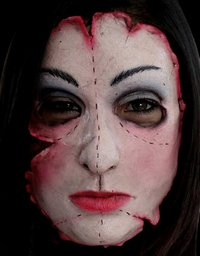 gory horrific latex horror face mask no.16 - Halloween