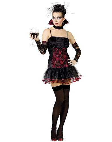 Female  Vampires Costume - Halloween