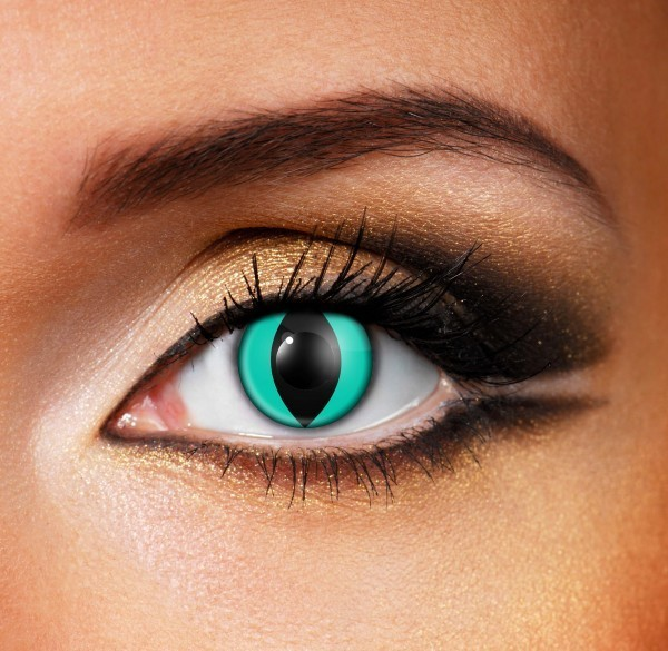 green cat contact lenses - Pair of lenses for cat