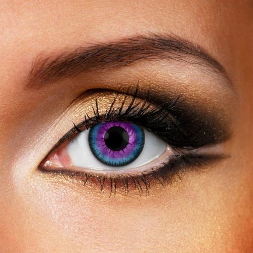 Violet contact lenses - Pair of Violet lenses for demons