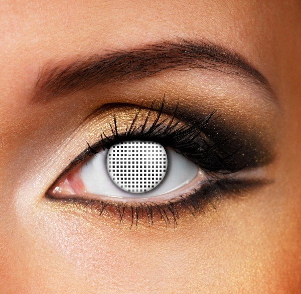 Mesh contact lenses - Pair of lenses for demons or Aliens