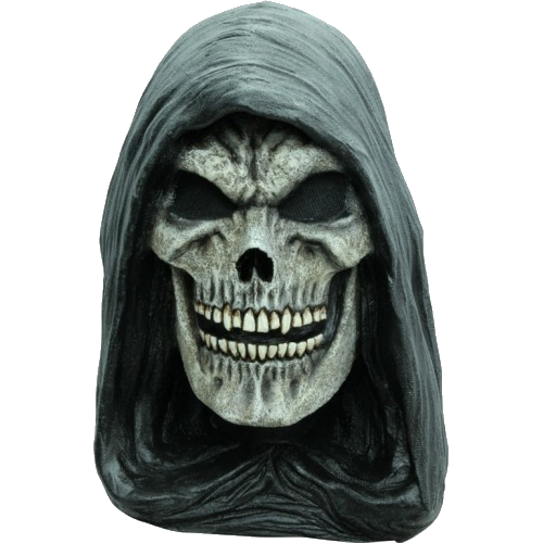 Hooded reaper horror mask - Halloween