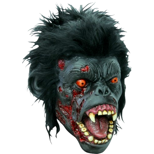 Zombie chimp Gory horror mask - Halloween