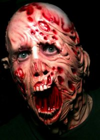 Melting man gory Halloween horror burned man mask
