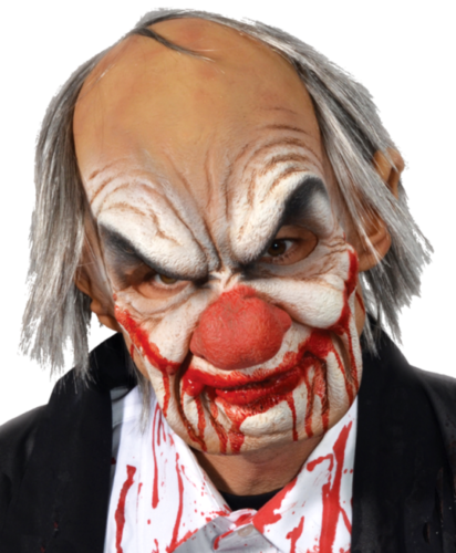 Smiley clown mask  - Moving mouth mask - realistic