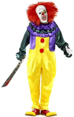 IT the Creepy Clown Costume with mask
