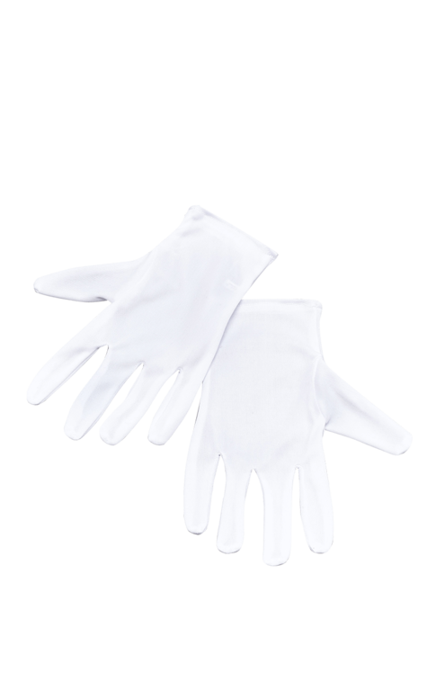 One pair of adult white gloves for clowns, phantoms