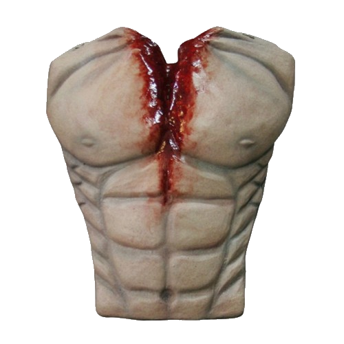 One bloody chest made of latex