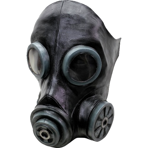 Rubber latex Gas mask