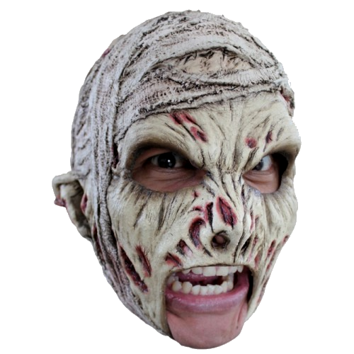 Mummy chin strap horror mask