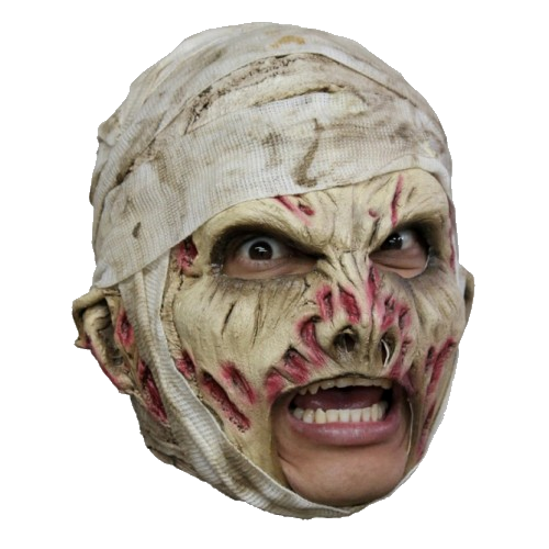 Deluxe Mummy chin strap horror mask