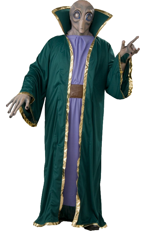 Alien Costume Mask Robe Gloves