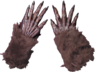 Brown Werewolf Wolf Monster Gloves