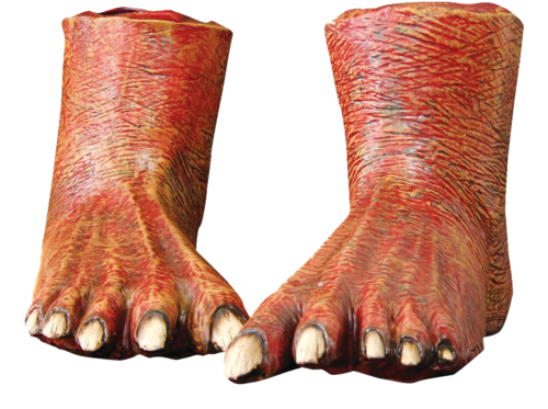 Devil Monster / zombie feet shoe covers