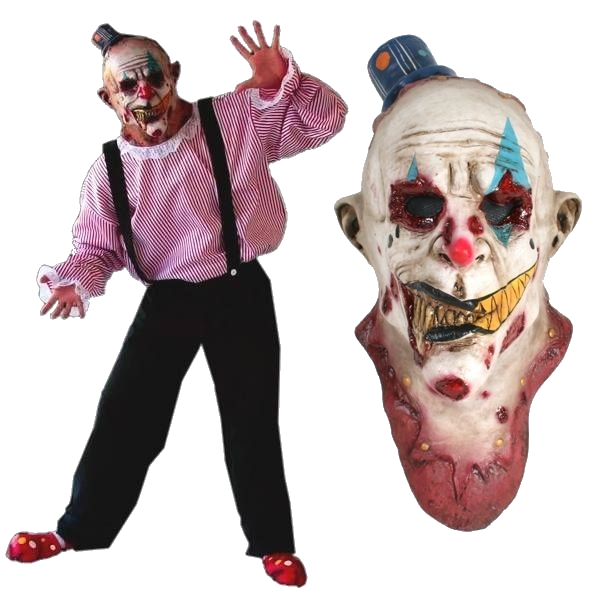 Clown horror costume with mask - Halloween costume clown horror