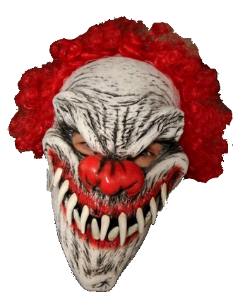 Last Laugh Curly the clown Moving mouth mask