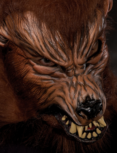 Howler werewolf Moving mouth mask